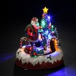 Village de Noël lumineux : Train du Père Noël