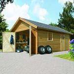 Karibu Garage 1 voiture en pin 18,76 m2