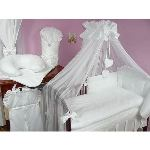 Lux4kids Set de lit 8 pièces Coeur avec broderie