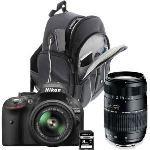 Nikon D5200 (avec 2 objectifs 18-55mm et 70-300mm)