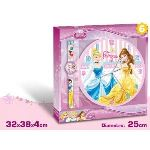 Set horloge murale + montre digitale Princess Disney pour filles