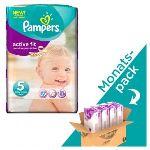 Pampers Active Fit taille 5 Junior (11-25 kg) - Pack économique x 136 couches