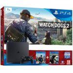 Sony PS4 Slim 1 To + Watch Dogs 2 + Watch Dog (Voucher)