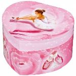Trousselier Boîte à bijoux musicale Ballerine rose coeur