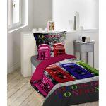 La Maison d'Amélie Phone Box - Housse de couette avec taie 57 fils (140 x 200 cm)