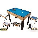 BCE Riley Table multi jeux 21 en 1 pliable bois