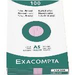 Exacompta 100 fiches bristol lignée 205 g (A5)