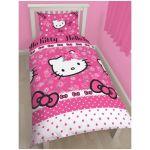 Character World Hello Kitty Fleur - Housse de couette et taie (135 x 200 cm)