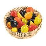 Sachet de 24 fruits en plastique assortis