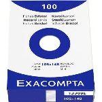 Exacompta 13309E - Etui de 100 fiches bristol 205 g uni non perforées (105 x 148 mm)