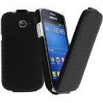 Avizar HCU-CARBOSLIM-WH-S7390 - Étui à clapet pour Samsung Galaxy Trend Lite S7390
