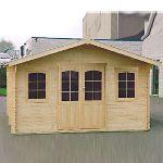 Decor et jardin 87758SZ00 - Abri de jardin en bois massif 44 mm 18,76 m2