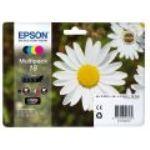 Epson T1806 - Multipack de 4 cartouches d'encres n°18 (noire, magenta, jaune et cyan)