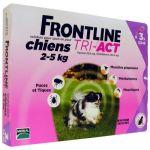 Frontline Tri-Act Chiens 2-5 Kg Boite de 3 Pipettes