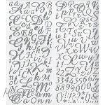 Sticker Alphabet paillette 177 lettres