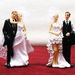 Figurine couple de mariés (15.7 cm)