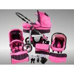Chilly Kids Dino - Poussette combinée avec siège auto, chancelière et parasol
