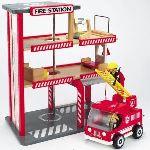 Hape Caserne de pompiers en bois