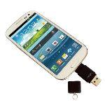 Bidul & Co A-USBKey ST 64 Go - Clé USB 2.0 avec connecteur USB et micro USB pour smartphone et tablette