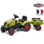 Falk / falquet Tracteur à pédales Claas Celtis avec remorque PM