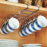 Wenko 2748130100 - Support à tasses pour étagères