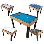 BCE Riley Table multi jeux 21 en 1 bois