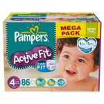 Pampers Active Fit taille 4 Maxi (7-18 kg) - Mega pack x 86 couches