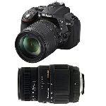 Nikon D5300 (avec 2 objectifs 18-105mm et 70-300mm)