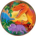 Amscan 8 assiettes Dinosaure (23 cm - modèle aléatoire)
