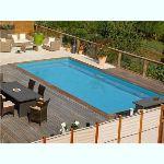 Sunbay 620283 - Piscine Bahamas rectangulaire hors sol en bois 824 x 429 x 148 cm