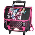 Mattel Cartable à roulettes Monster High