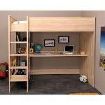 Les meubles olivier Lit mezzanine enfant Kurting (90 x 200 cm)