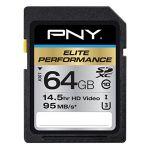PNY P-SDX64U395-GE - Carte mémoire Elite performance 64 Go