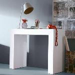 Table console Algo 3 extensible en chêne