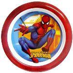 Assiette plate ronde Spiderman en mélamine