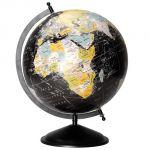 La Chaise Longue Globe terrestre noir grand modèle - 33 cm