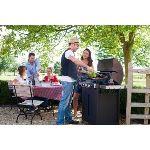 Barbecook Bramha 4.0 Ceram - Barbecue 3 feux + 1 réchaud sur chariot