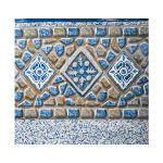 Gre FPROV819 - Liner décor mosaïque avec frise pour piscine ovale hors sol 810 x 470 x 132 cm (avec rail d'accroche)