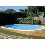 Gre KPEOV7359 - Kit piscine enterrée en acier 700 x 375 x 150 cm