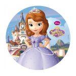 Dekora Disque azyme Princesse Sofia pour décoration de gâteau