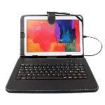 Duragadget Etui aspect cuir  avec clavier Intégré, port de maintien et stylet pour tablette Samsung Galaxy Tab 3 P5200, P5210 et P5220