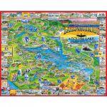 White mountain puzzles Régions des lacs, New-York, USA - Puzzle 1000 pièces