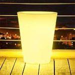 Batimex 303131 - Vase conique lumineux multicolore à LEDS avec télécommande Ø30 x 38 cm