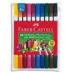 Faber-Castell Pochette de 10 feutres double-pointe