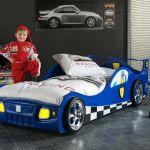 Vipack Lit voiture Monza pour enfant 90 x 200 cm