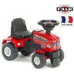 Falk / falquet Porteur tracteur Farm Mustang 350S et remorque