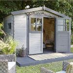 Chalet et Jardin Soleil - Abri de jardin en bois avec toit translucide 6 m2
