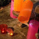 Blachère illumination Guirlande avec 4 grands lampions chinois (8 m)