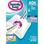 Handy Bag A06 - 4 sacs aspirateur en microfibres et 1 filtre sortie d'air