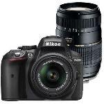 Nikon D5300 (avec 2 objectifs 18-55mm et Tamron 70-300mm)